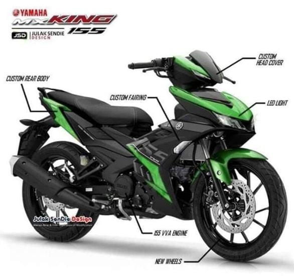 Yamaha MX King 155 2020 màu xanh lá