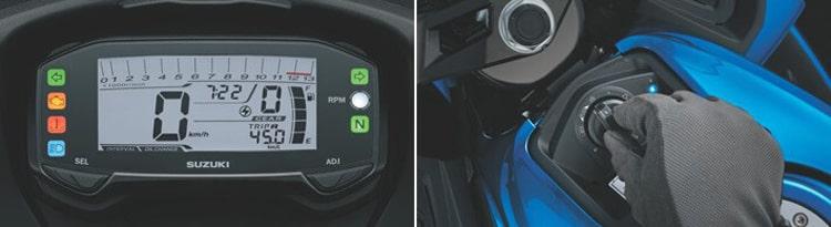 Đồng hồ, smart key Suzuki GSX-R150 2019